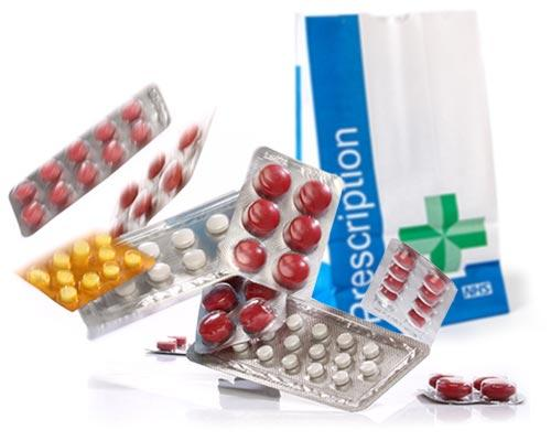 Online Prescription Tablets and Bag